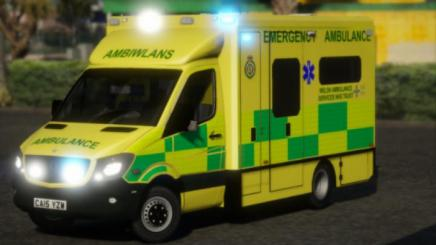 Photo of Gta 5 – Welsh Ambulance Service 2015 Mercedes Sprinter Ambulance 1.0