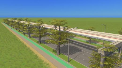 large-road-with-bike-monorail-and-trees-thumb