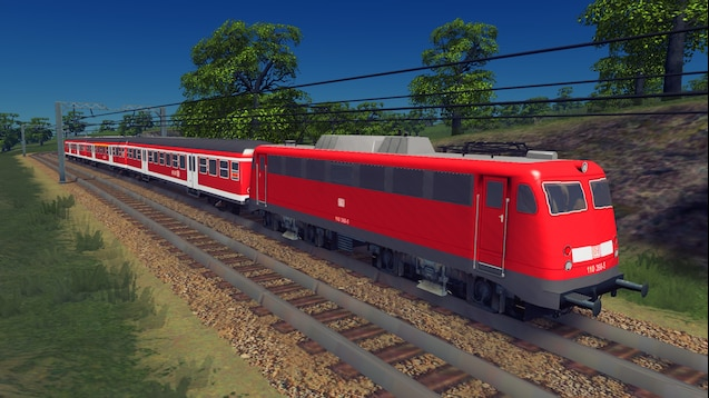 Photo of Cities Skylines – Train: DB BR 110.3 3nK Modern Red