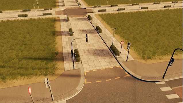 Photo of Cities: Skylines – Two-Lane Futuristic Road