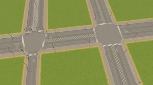 Photo of Cities: Skylines – 32m 4-Lane Asym + Bikes + Parking