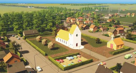 Photo of Cities: Skylines – European Church with Crematorium