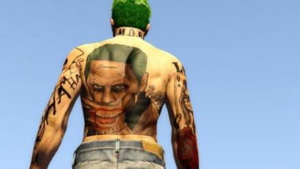 Photo of Gta 5 – Custom Suicide Squad Joker Art Tattoo For Mp Male Back 1.0
