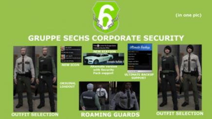 Photo of Gta 5 – Gruppe Sechs Corporate Security Agency Lspdfr 4.1