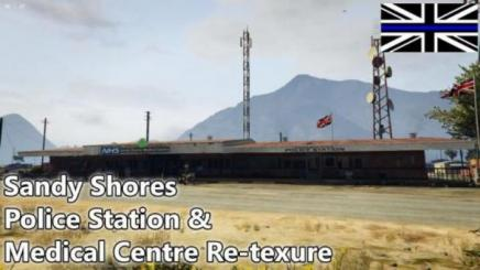 Photo of Gta 5 – Sandy Shores Police Station & Medical Centre Re-Texture (Uk) 0.1