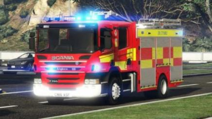 Photo of Gta 5 – South Wales Fire Brigade Scania P280 (5 Pack) 1.0