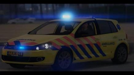 Photo of Gta 5 – Volkswagen Golf Ambulance Rapid-Responder Els 4K Reflective Add-On Replace 1.0