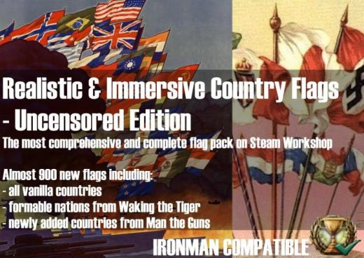 Photo of Hearts of Iron IV – Realistic & Immersive Country Flags – Uncensored Edition