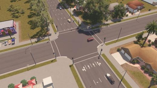 Photo of Cities: Skylines – [US] Wide 4-Lane One-Way Suburban Road