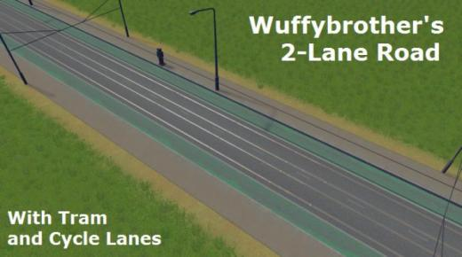2-lane-road-with-tram-and-bicycle-lanes-thumb