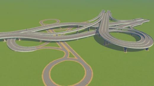 Photo of Cities: Skylines – 3 Way Intersection + Dogbone v1