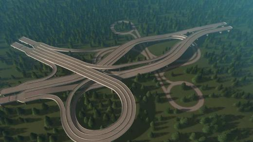 Photo of Cities: Skylines – 3 Way intersection + Dogbone v2