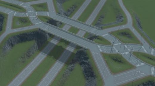 Photo of Cities: Skylines – Aquilifer's Diverging Diamond