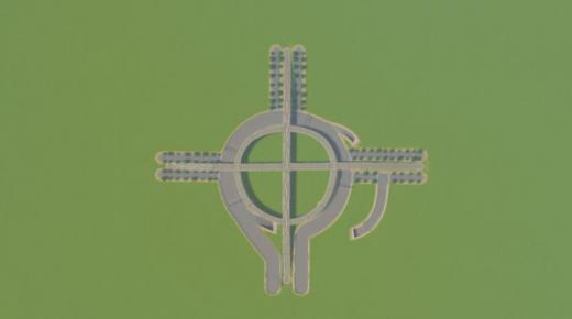 Photo of Cities: Skylines – Large Roundabout for Heavy Traffic