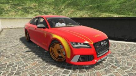 Photo of Gta 5 – Audi Rs7 Livery – Lannister Design Paintjob – Game Of Thrones 1.0