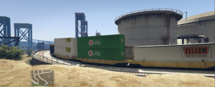 Gta 5 - Freight Double Stacks Replace Vanilla Or Compatible With