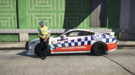 Photo of Gta 5 – Nsw New South Wales Highway Patrol Skin For Mustang Gt350R 1.1