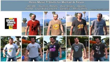 Photo of Gta 5 – Retro Music T-Shirts For Michael & Trevor 1.0