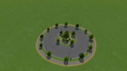 Photo of Cities: Skylines – Large Road Small Roundabout