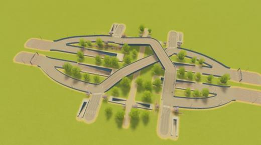 Photo of Cities: Skylines – Loop Block In/Out (8 Lane HiWay)