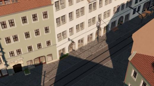 Photo of Cities: Skylines – One Lane One Way Tram and Car Road with Cobbles ETT