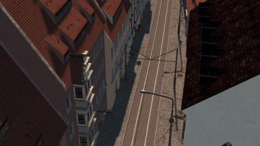Photo of Cities: Skylines – One Lane One Way Tram + Car Cobbles