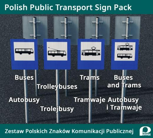 Photo of Cities: Skylines – Polish Public Transport Sign Pack