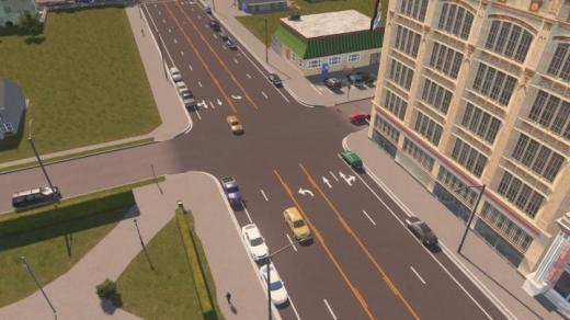 Photo of Cities: Skylines – [US Road Project] 4-Lane Road W/ Turning Median