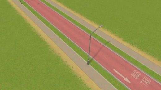 Photo of Cities: Skylines – 2-Lane Bus Road with Grass