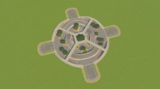 Photo of Cities: Skylines – 4-Way No Crossing Intersection