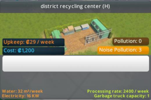 Photo of Cities: Skylines – District Recycling Center (H – 2×1)