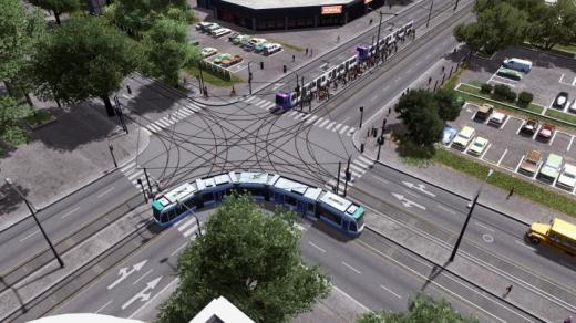 Photo of Cities: Skylines – Four Lane – Tram Road