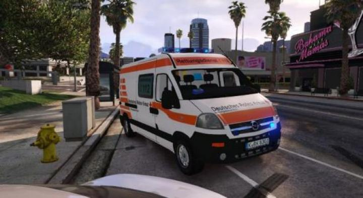 Gta 5 - 2004 Opel Movano Deutsches Rotes Kreuz Ambulance Replace