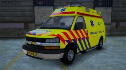 "Photo of Gta 5 – Chevrolet Express Van Dutch ""chevy"" Ambulance 1.0"