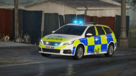 Photo of Gta 5 – Staffordshire Police Peugeot 308 Estate Skin 1.0