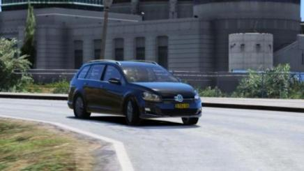 Photo of Gta 5 – Volkswagen Golf Variant 2014 Civ Replace