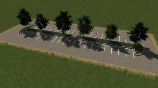 Photo of Cities: Skylines – Parking Lot – Long 3×8