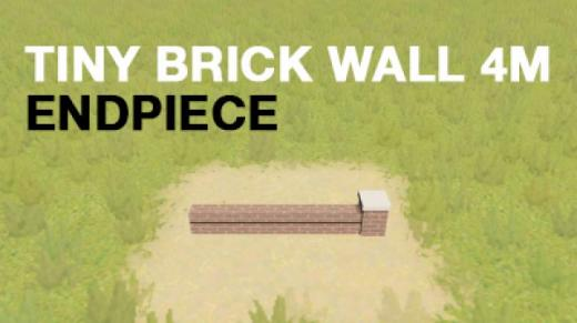 Photo of Cities: Skylines – Prop – Tiny Brick Wall END Piece 4m