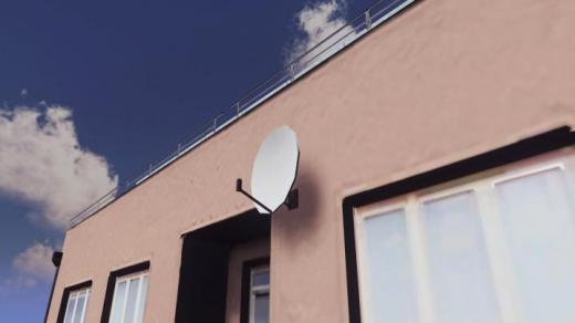 Photo of Cities: Skylines – Prop: Wall-Mounted Satellite Dish