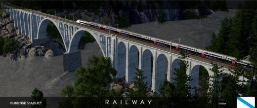 Photo of Cities: Skylines – Railway Ourense Viaduct (Wireless)
