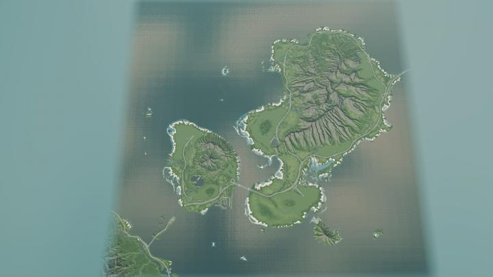 Cities: Skylines - Two Brothers Islands Map - New PC Game