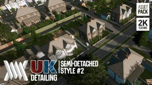 Photo of Cities: Skylines – UK Housing Detailing Pack: Semi-Detached Style #2