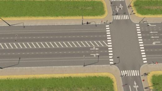 Photo of Cities: Skylines – 4-Lane Medium Road with Bicycle Lanes and Parking