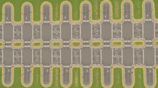 Photo of Cities: Skylines – 4-Lane Medium Road with Bicycle Lanes (Both Outside Lanes)