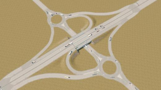 Photo of Cities: Skylines – A4 Parclo W/ Roundabouts