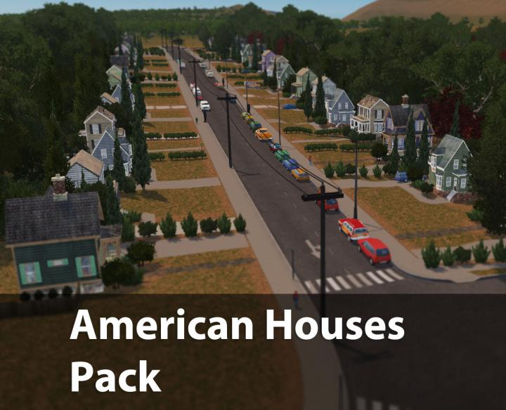 Cities: Skylines - American Houses Pack - New PC Game Modding