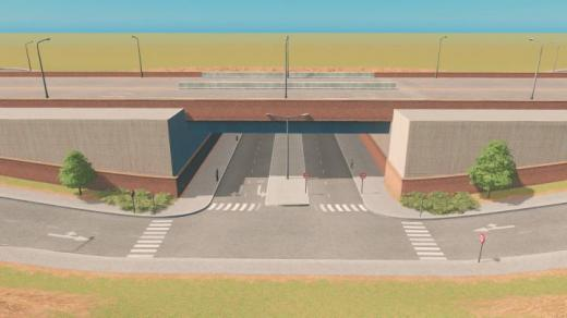 Photo of Cities: Skylines – Brick and Mortar Underpass