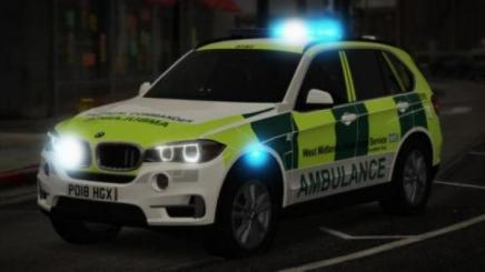 Photo of Gta 5 – West Midlands Ambulance & Air Ambulance – Bmw X5 Rrv V1