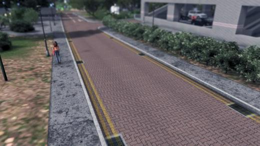 Photo of Cities: Skylines – HDB Red Brick Street with Double Yellow Lines