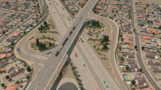 Photo of Cities: Skylines – I-5 at Harbor Blvd (Anaheim, CA)